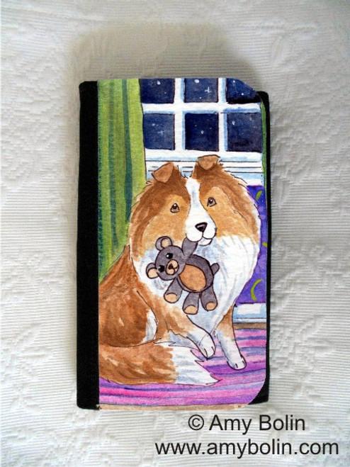 """Bedtime Buddies"" Sable Shetland Sheepdog Large Organizer Wallet"