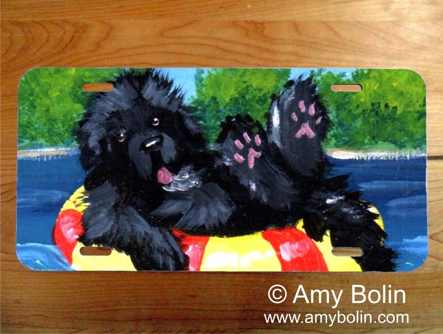 LICENSE PLATE · DOG DAYS · BLACK NEWFOUNDLAND · AMY BOLIN