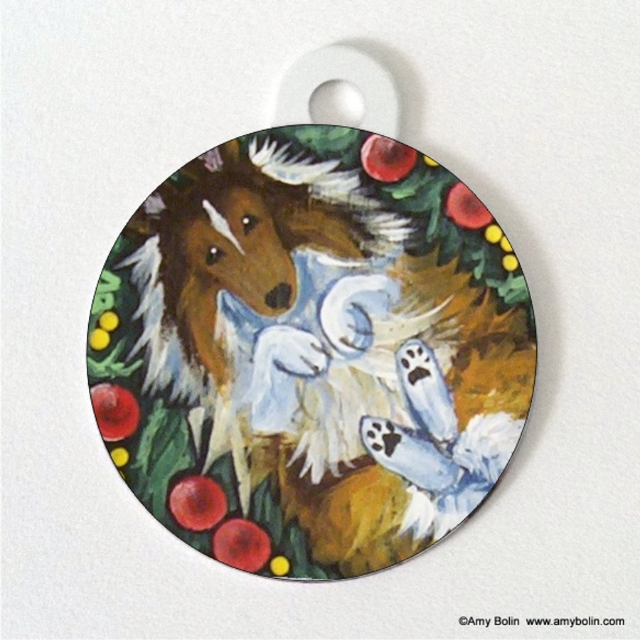 DOUBLE SIDED PET ID TAG · SPRING FEVER · SABLE · AMY BOLIN