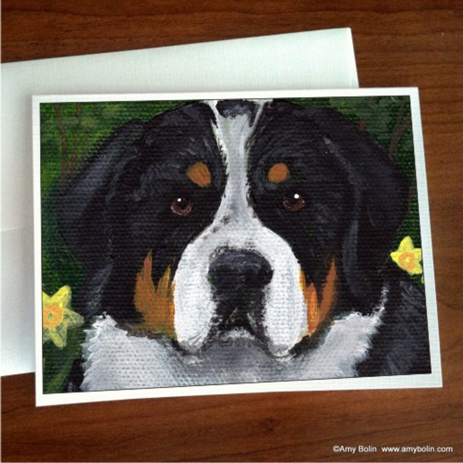 """""""Piper"""" Greater Swiss Mountain Dog Note Cards"""