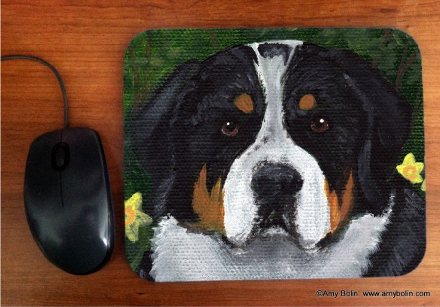 MOUSE PAD · PIPER · GREATER SWISS MOUNTAIN DOG · AMY BOLIN