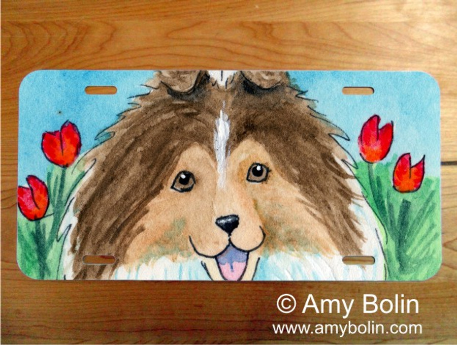 LICENSE PLATE · EASTER SHELTIE · SABLE SHELTIE · AMY BOLIN