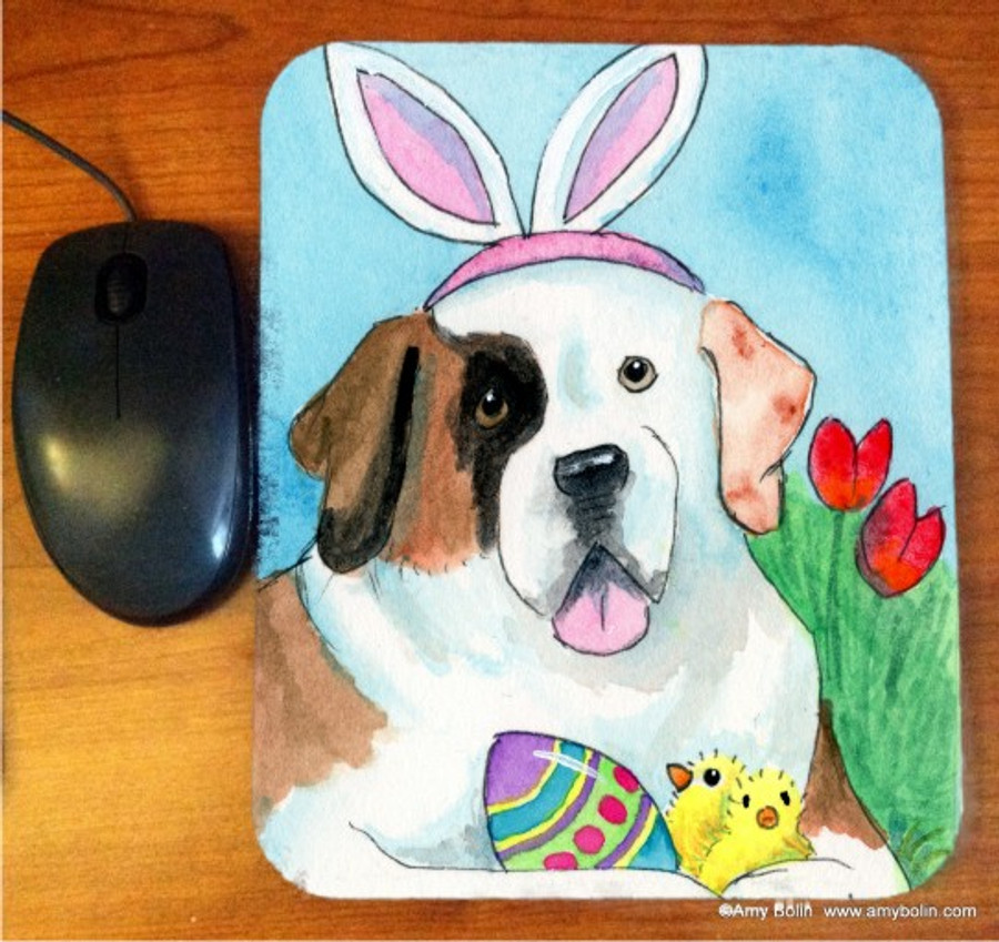 MOUSE PAD · EASTER SAINT · HALF MASK SAINT BERNARD · AMY BOLIN