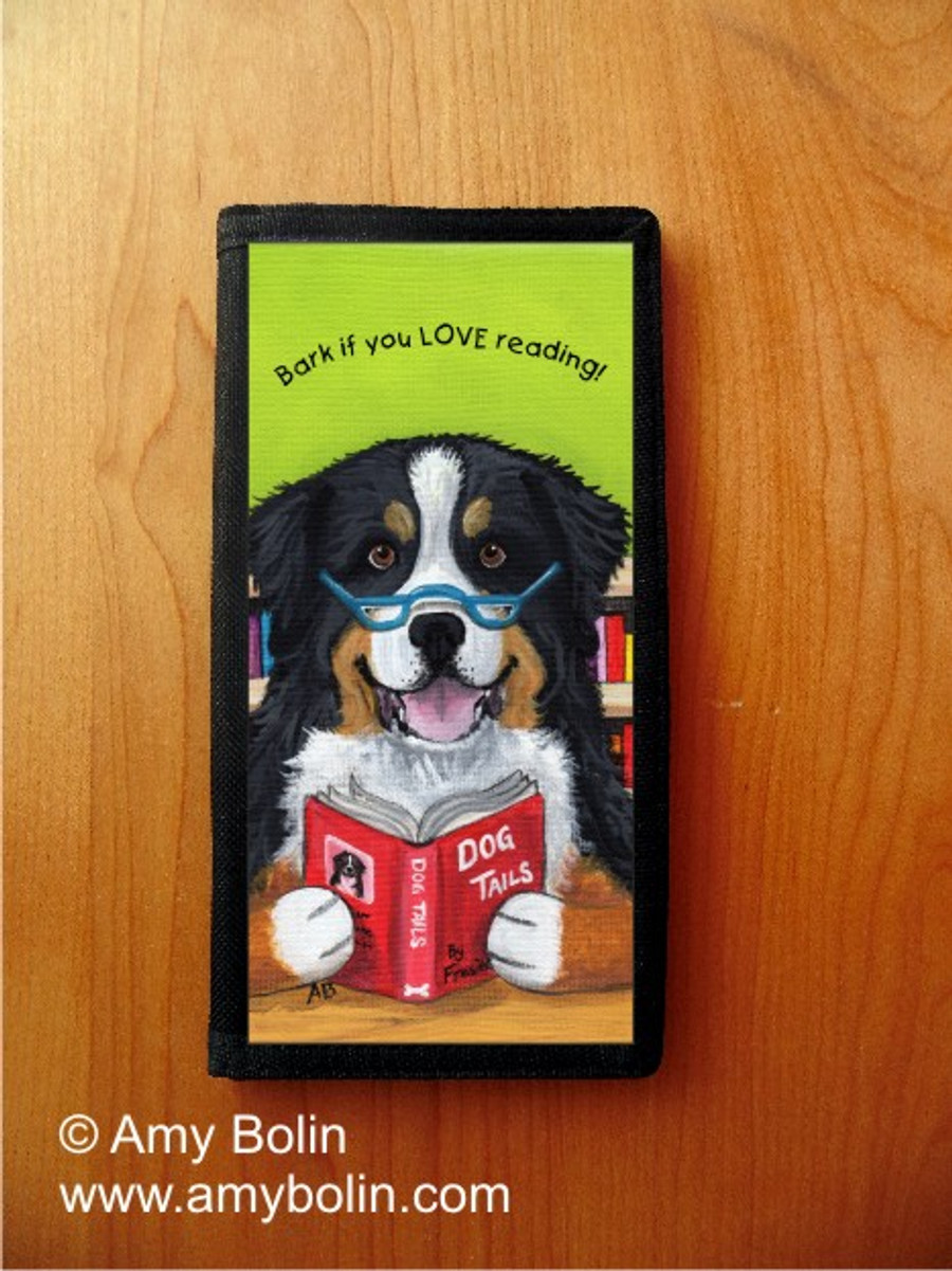 CHECKBOOK COVER · DOG TAILS VOL 4 · BERNESE MOUNTAIN DOG · AMY BOLIN