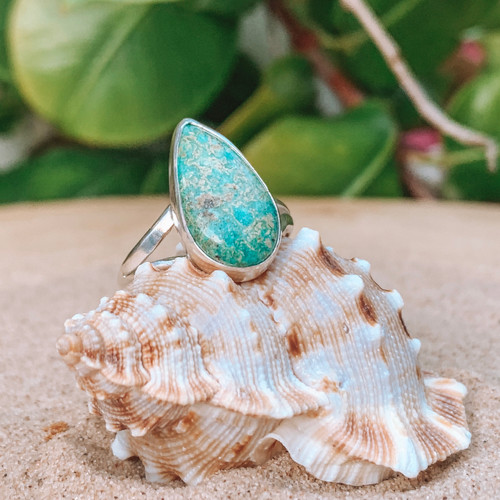 Royston Turquoise Teardrop Ring (Reserved Pt.1)