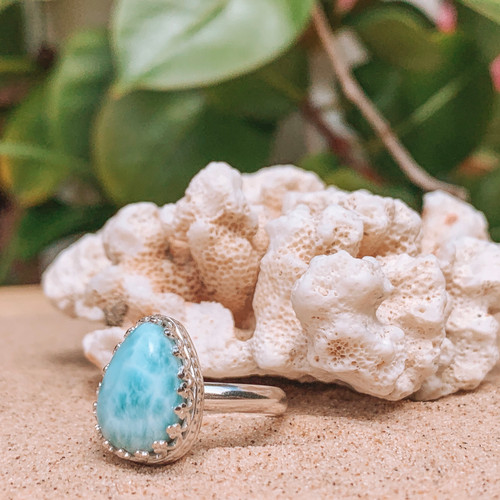 Larimar Crown Ring Pt. 2 (Reserved)