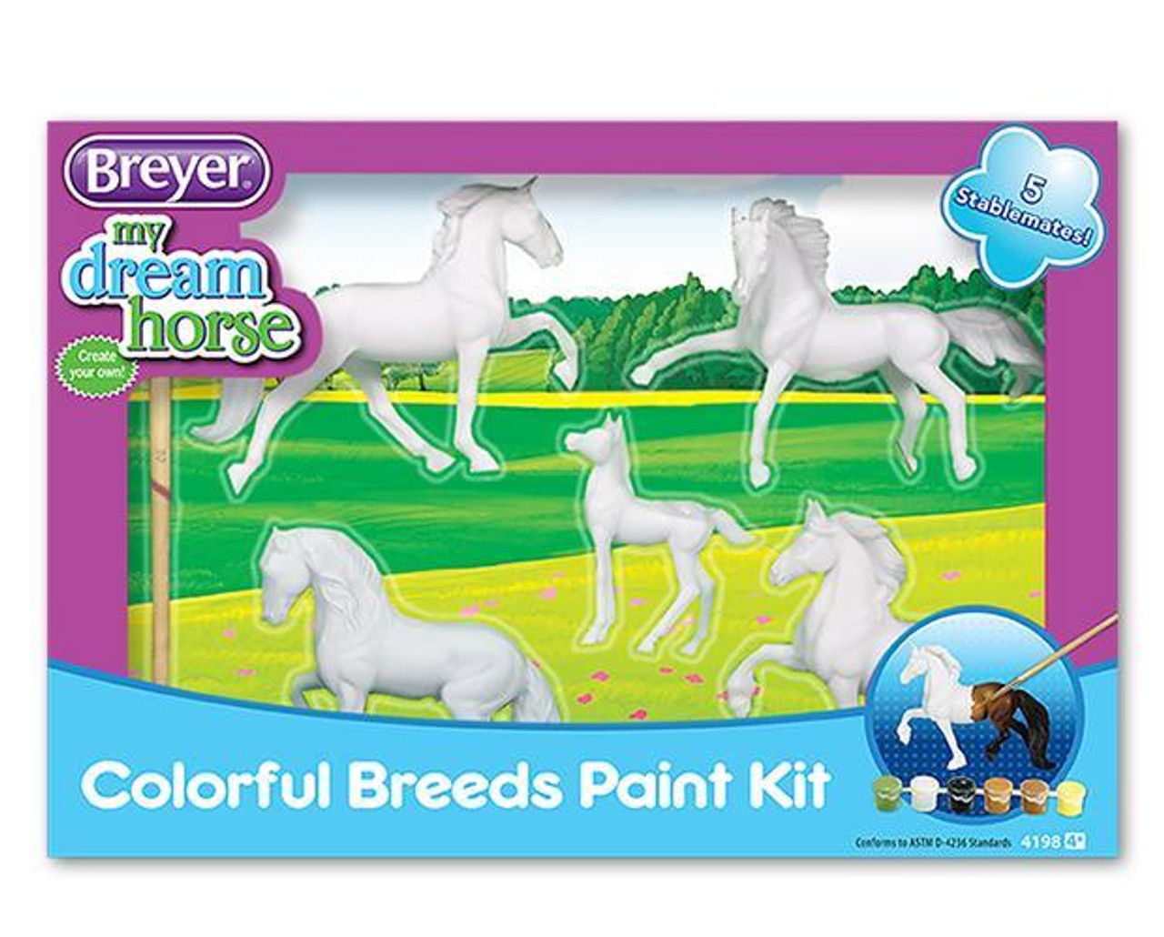 Breyer Stablemate My Dream Horse Colorful Breeds Paint Kit Pilot Point Feed Store