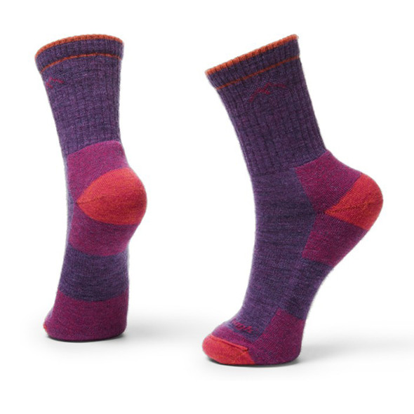 Darn Tough Hiker Micro Crew Cushion Socks - Women's M(Plum Heather) - Style 1903