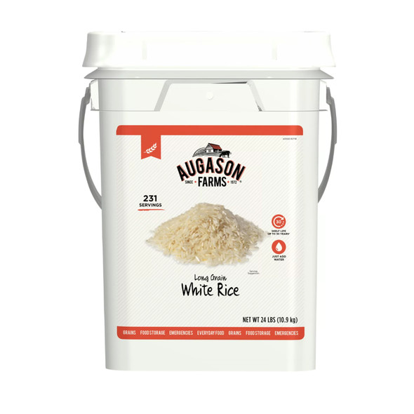Augason Farms Long Grain White Rice Bulk Food Storage