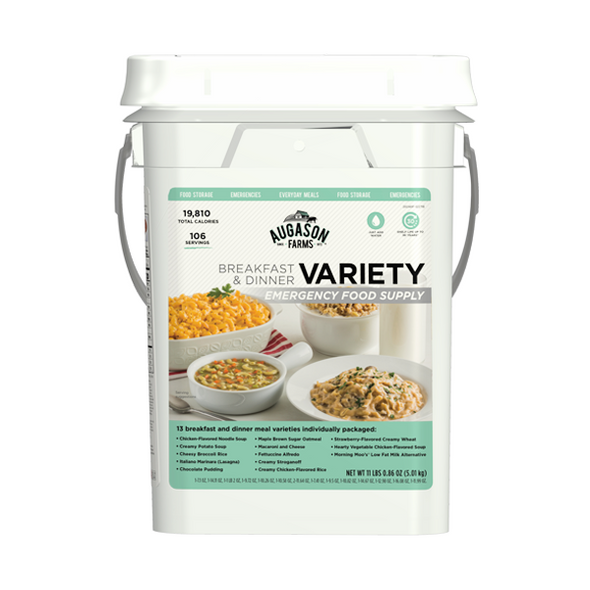 Augason Farms 30 Day Emergency Food Supply (Breakfast & Dinner)