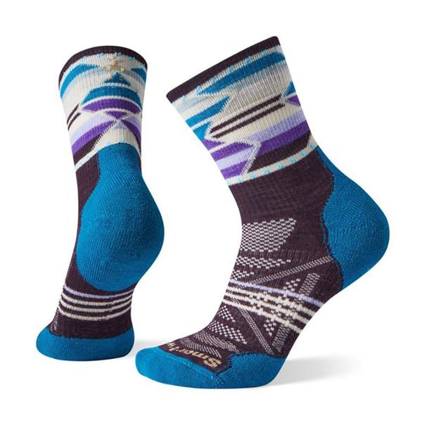 Smartwool PhD Outdoor Light Pattern Mid Socks - Women's M(Bordeaux)