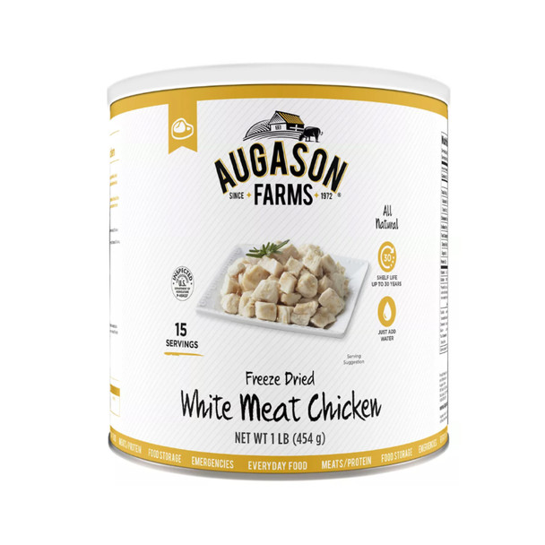 Augason Farms 16-Oz. Freeze-Dried White Meat Chicken