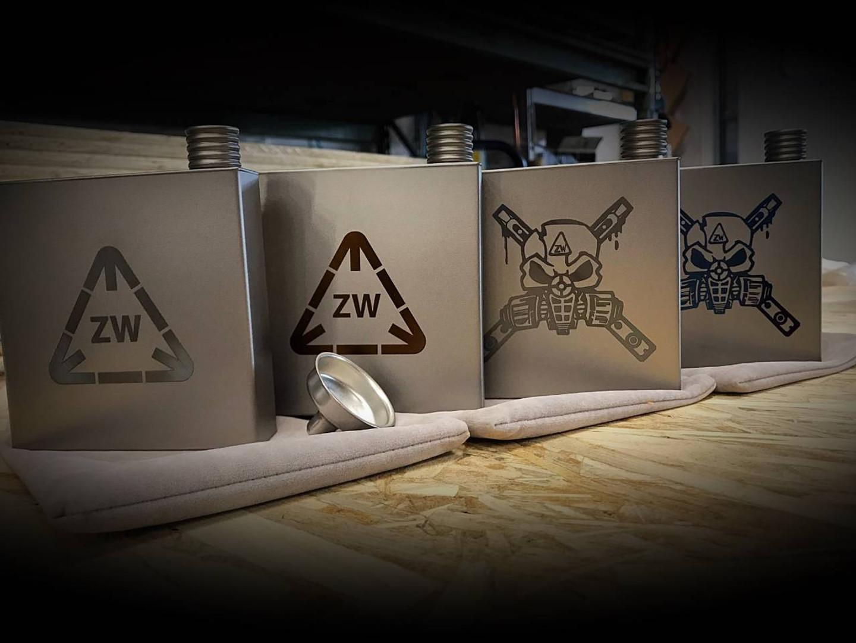 ZW Tools Pure Titanium 6oz. Flasks