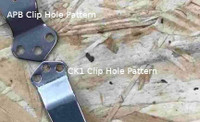 Pocket Clip Hole Pattern