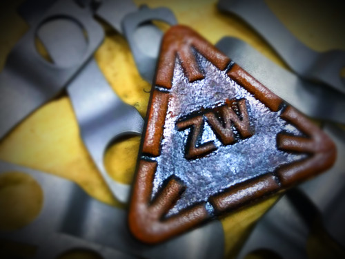 ZW Logo Leather patch Brown