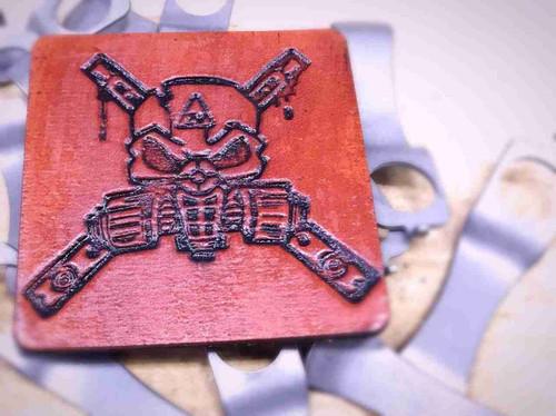 ZW Gas Mask Logo Leather Patch