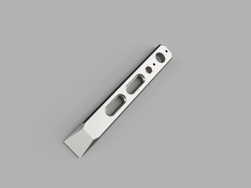 Titanium Double Slot Clip It Pry Bar