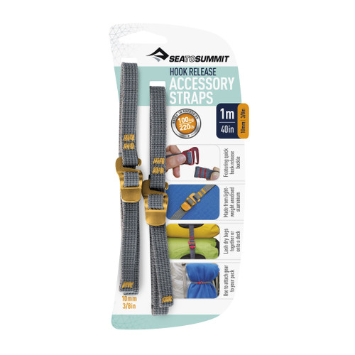 """Accessory Straps with Hook Release  10mm - 3/8"""" - 40in/1m"""