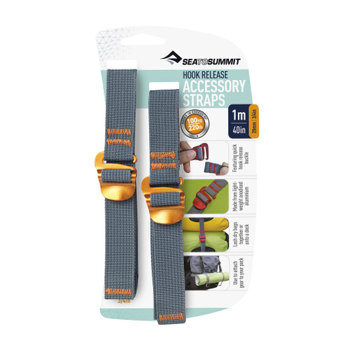 """Accessory Straps with Hook Release 20mm - 3/4"""" - 40in/1m"""