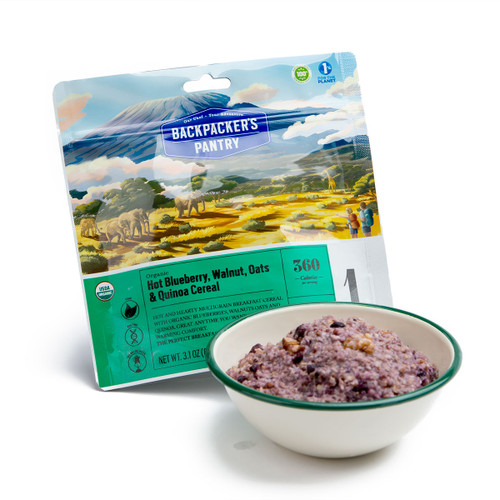 Organic Blueberry Walnut Oatmeal w/ Hemp and Quinoa