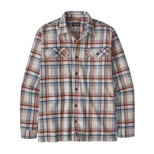 Men's Long Sleeve Organic Cotton Mid Weight Fjord Flannel Shirt