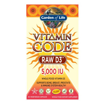 Garden of Life Vitamin D3 5000 IU 60 Capsules