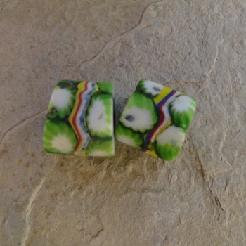 Millafiori Italian Green White Yellow Red Blue 9x11 mm