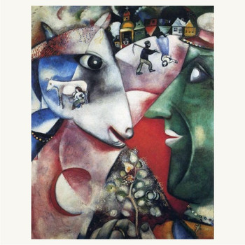 Marc Chagall I and the Village 5 x 7 Print
