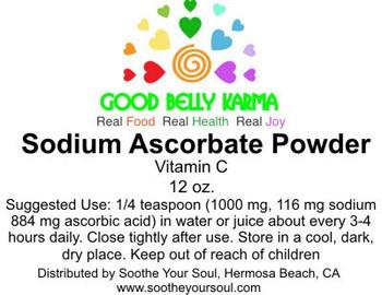 Vitamin C Sodium Ascorbate Powder 12 oz Jar