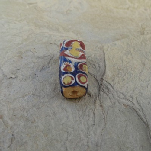 Millefiori Venetian Navy Yellow 17-20x6 mm