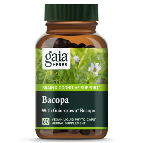 Gaia Herbs Bacopa 60 Vegan Liquid Herbal Capsules