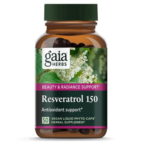 Gaia Resveratrol 150 Liquid Phyto-Caps Extra Strength 50 Capsules