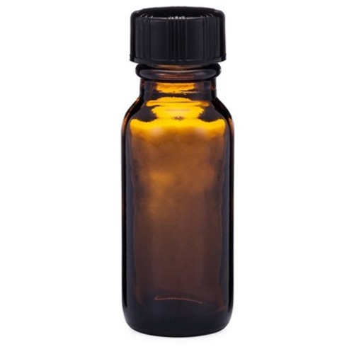 1/2 oz Amber Glass  Bottle with Cap and Orifice Reducer
