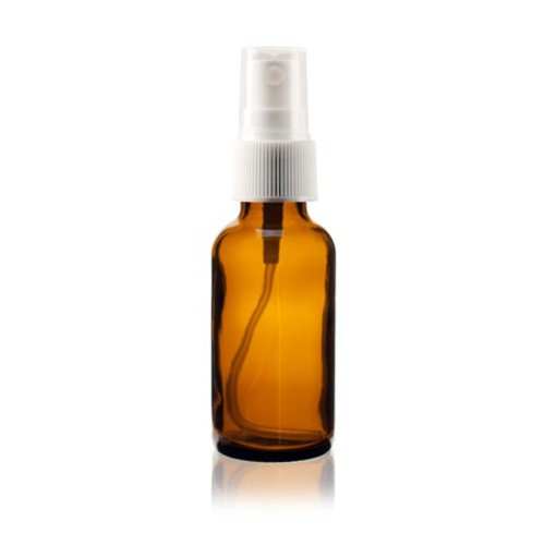 1 oz Amber Glass Bottle with Spray Atomizer
