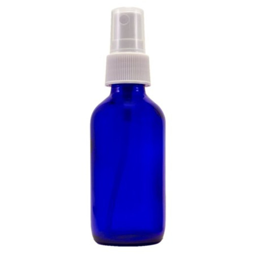 2 oz Cobalt Blue Glass Bottle with Spray Atomizer