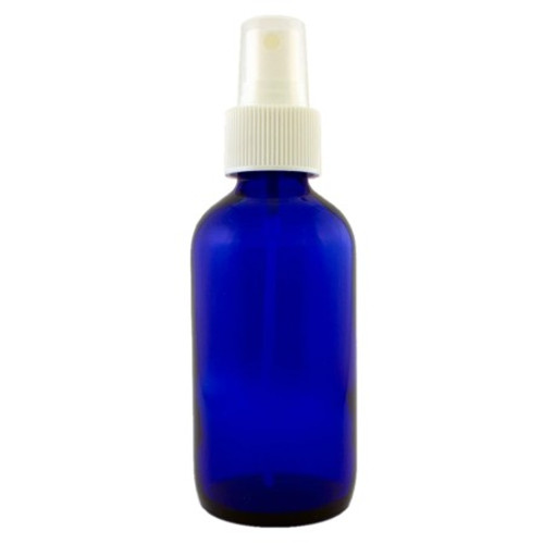 4 oz Cobalt Blue Glass Bottle with Spray Atomizer