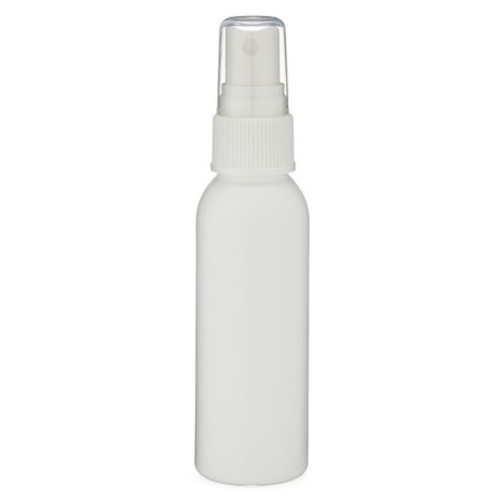 2 oz Natural (Semi-Translucent) HDPE Plastic Bottle with Spray Atomizer