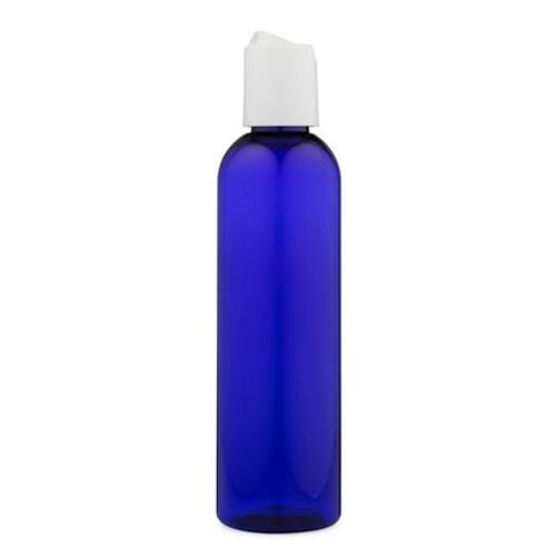 4 oz Cobalt Blue Plastic Bottle with Disc Cap