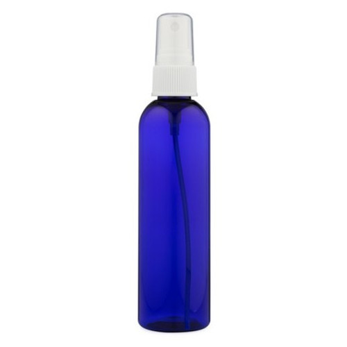 4 oz Cobalt Blue Plastic Bottle with Spray Atomizer