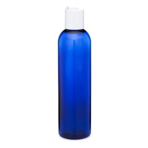 8 oz Cobalt Blue Plastic Bottle with Disc Cap
