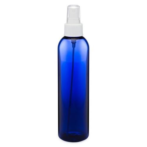 8 oz Cobalt Blue Plastic Bottle with Spray Atomizer