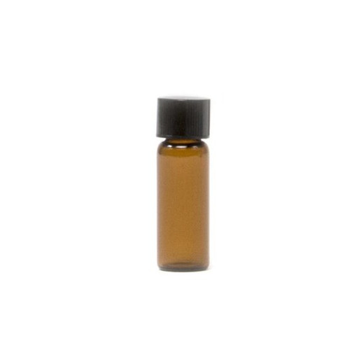 1/8 oz Amber Glass Vial with Cap & Orifice Reducer