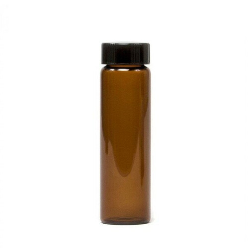 1/2 oz Amber Glass Vial with Cap & Orifice Reducer