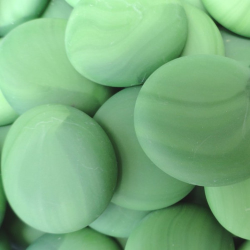 10 lbs Large Green Glass Gems Tumbled 35-45 mm Approx 1.5 inch Mosaic Quality