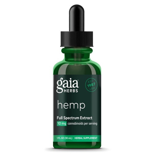 Gaia Herbs Hemp 10 mg/ml Liquid Herbal Extract