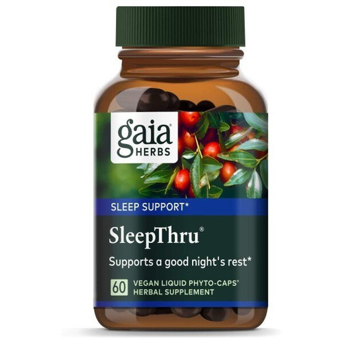 Gaia Herbs Sleep Thru 60 Liquid Herbal Extract Capsules