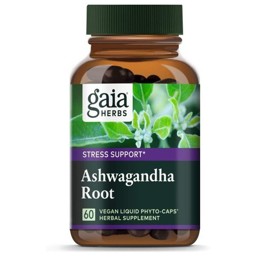 Gaia Herbs Ashwagandha Root 60 Liquid Herbal Extract Capsules
