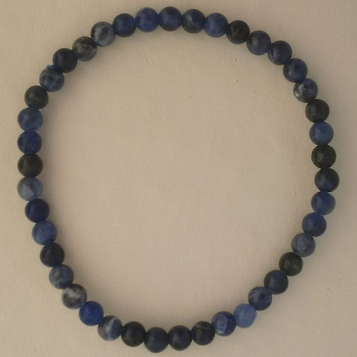 Sodalite 4 mm Round Bead Bracelet