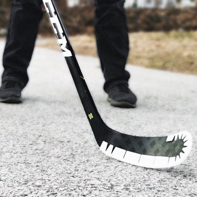 Wrap Around ICE is a lightweight plastic version that allows you to use your favourite on-ice hockey stick off the ice without causing damage to the stick blade.
