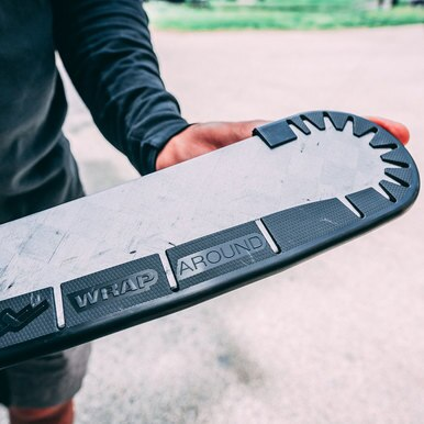 Wrap Around ICE is a lightweight plastic version that allows you to use your favorite on-ice hockey stick off the ice without causing damage to the stick blade.